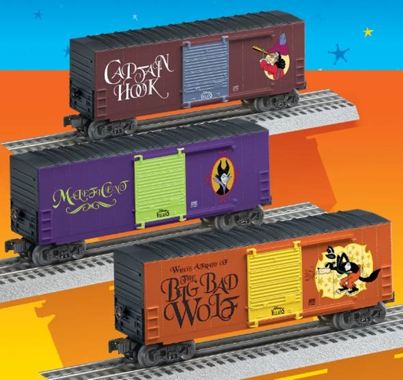 Picture of Disney Villains Hi-Cube Boxcar 3pk.