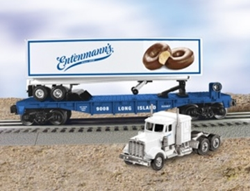 Picture of LIRR Flatcar w/Entenmanns Truck & Trailer