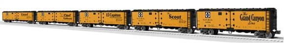 Picture of Santa Fe Map & Slogan Steel-Side Reefer 5pk.