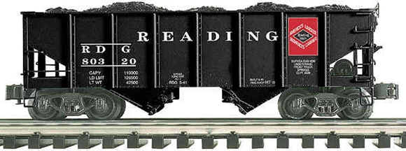 Picture of K-line Reading Die-Cast 2-Bay Ribbed Hopper