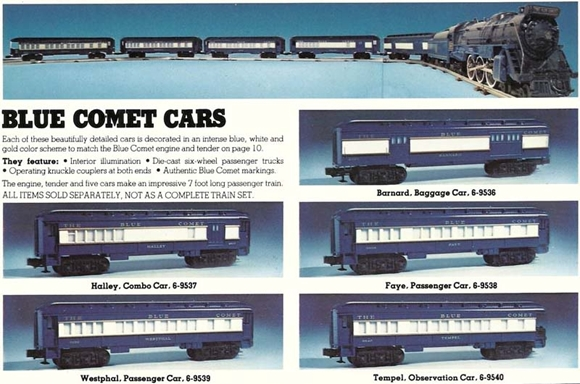 Picture of Blue Comet 5-Car Baby Madison Passengers (9536 to 9540)