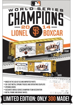 Picture of MLB World Series Giants Champions Boxcar