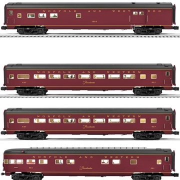 "Picture of Norfolk & Western 18"" 4-Car Aluminum Set"