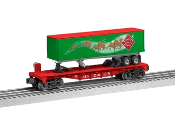 Picture of Reindeer Express Agency Flatcar w/Trailer