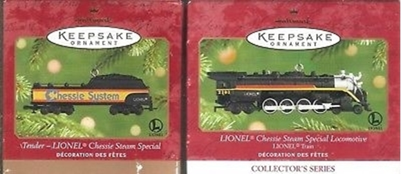 Picture of Hallmark Chessie System Locomotive & Tender Ornaments
