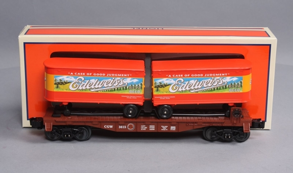 Picture of LOTS Chicago Greatwestern Piggyback Edelweiss Beer Trailer Car