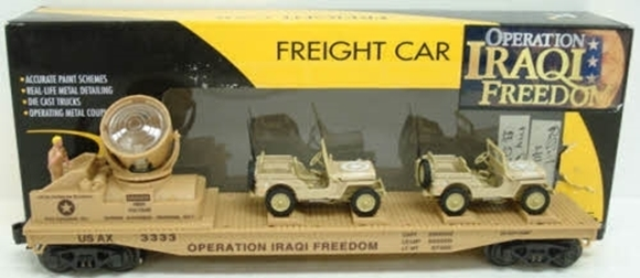 Picture of Operating Iraqi Freedom Searchlight Flatcar w/Jeeps