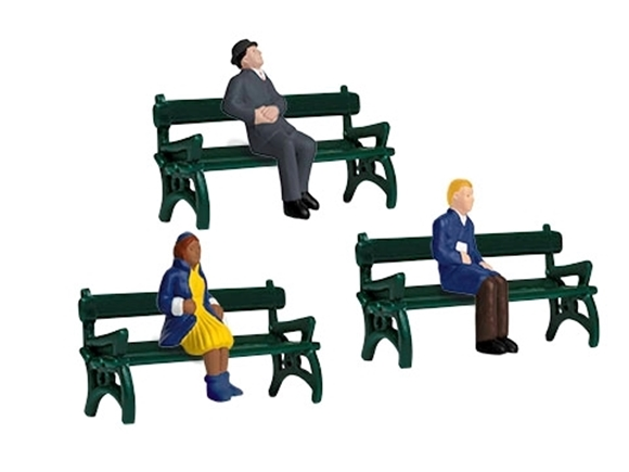 Picture of Sitting People with Benches (6pc)