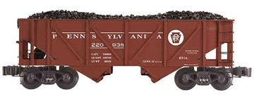 Picture of Pennsylvania Outside Braced 2-Bay Die-Cast Hopper Car