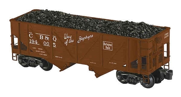 Picture of C.B.& Q. Outside Braced 2-Bay Die-Cast Hopper Car
