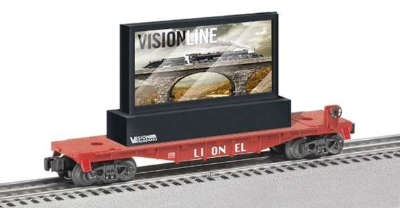 Picture of Lionel Flatcar w/Operating LCD Billboard *