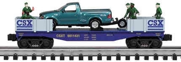 Picture of CSX Flatcar w/'98 Ford Pickup Truck &  Figures