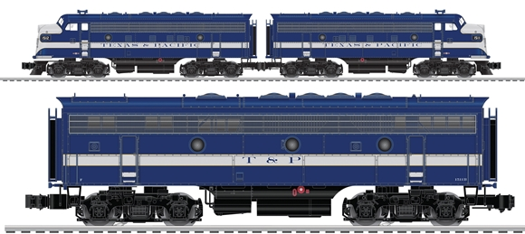 Picture of Texas & Pacific LEGACY F7 'AA' w/SuperBass B-unit (85196/85200)