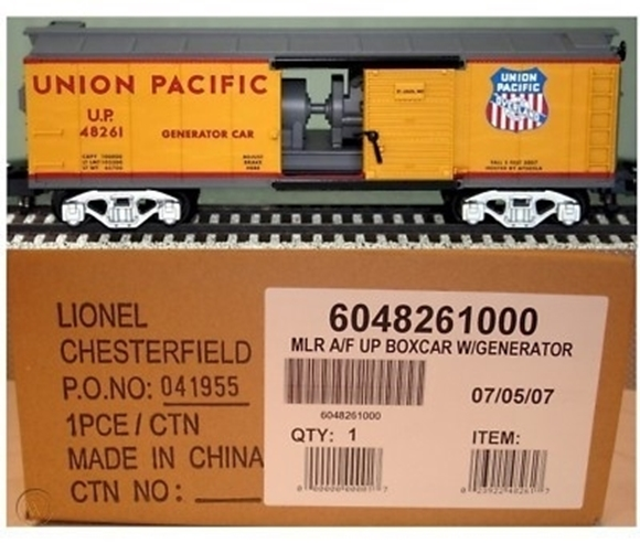 Picture of Union Pacific Boxcar w/Generator Load